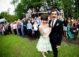 mustache wedding party funzug org 01
