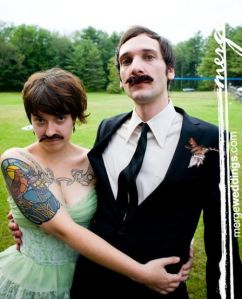 mustache wedding party funzug org 07