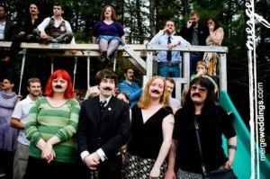 mustache wedding party funzug org 09